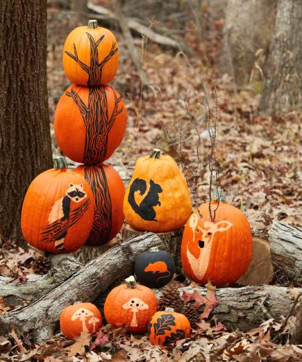More pumpkin decorating ideas