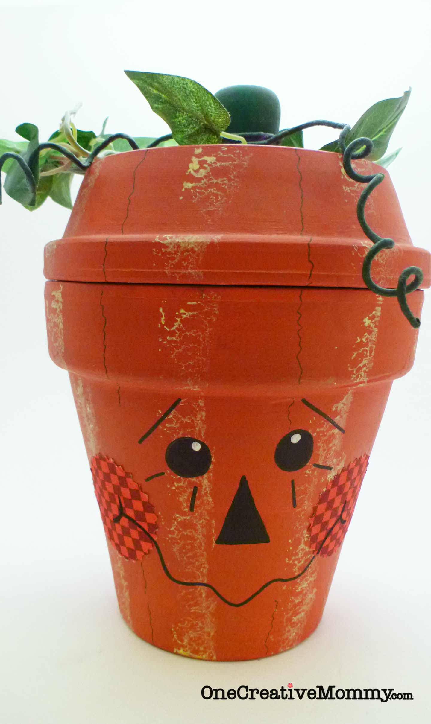 Terra Cotta Pumpkin Makeover