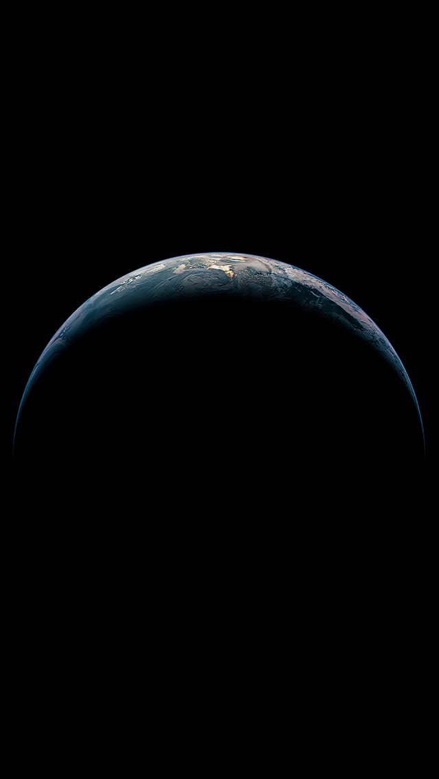 iOS 8 Planet Earth iPhone 5 Wallpaper