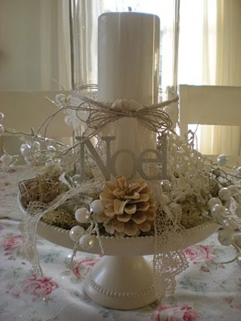 White Vintage Christmas Ideas 3