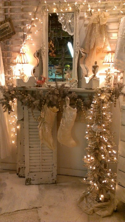 White Vintage Christmas Ideas 9