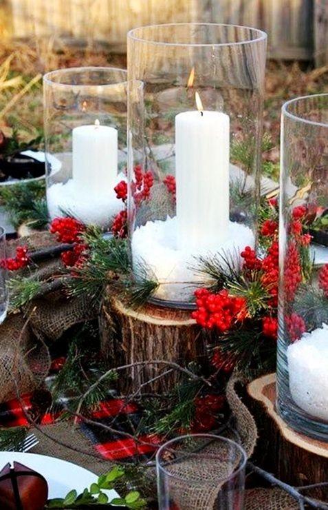 30 Adorable Christmas Candle Decoration Ideas