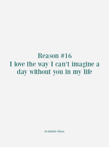 52 Reasons Why I Love You Love Quotes