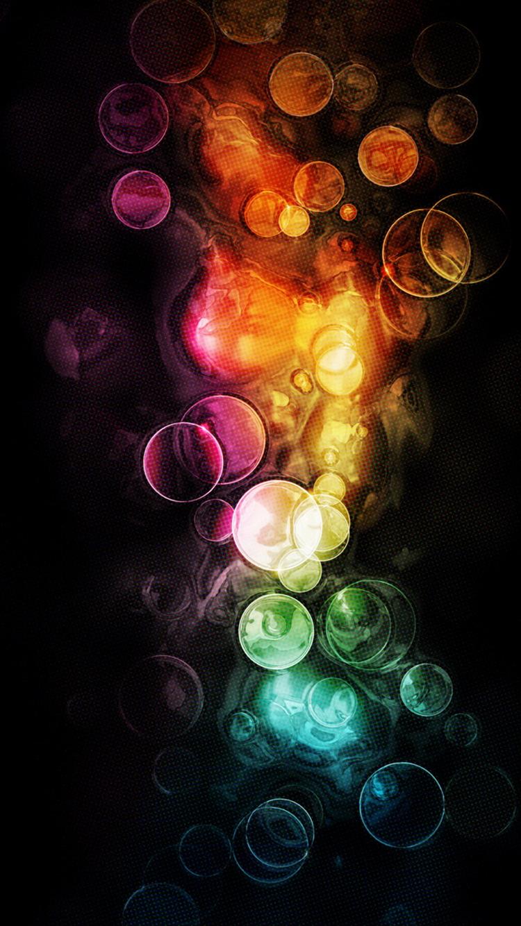 Colorful Bokeh Bubbles Effect iPhone 6 Wallpaper
