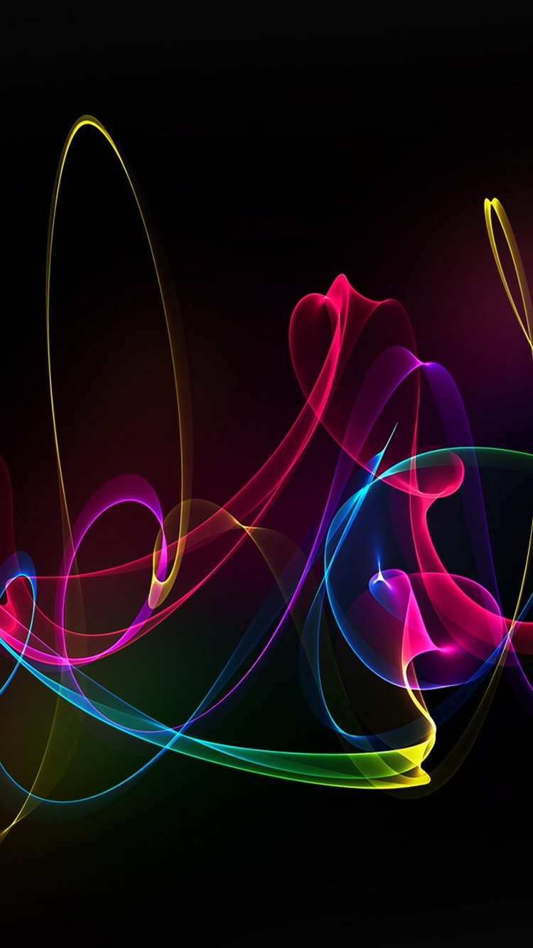 Colorful Silky Smoke Lines iPhone 6 Wallpaper