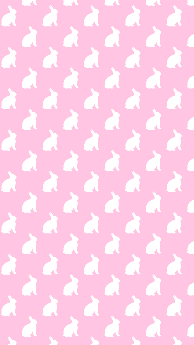 Pink and White Bunnies Background Bunny Pattern Texture