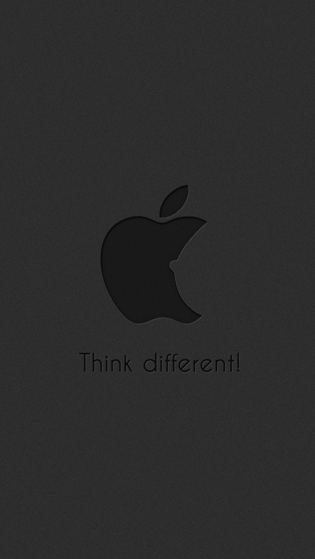 Funny Subtle Apple Think Different Logo Dark IPhone 5 Wallpaper