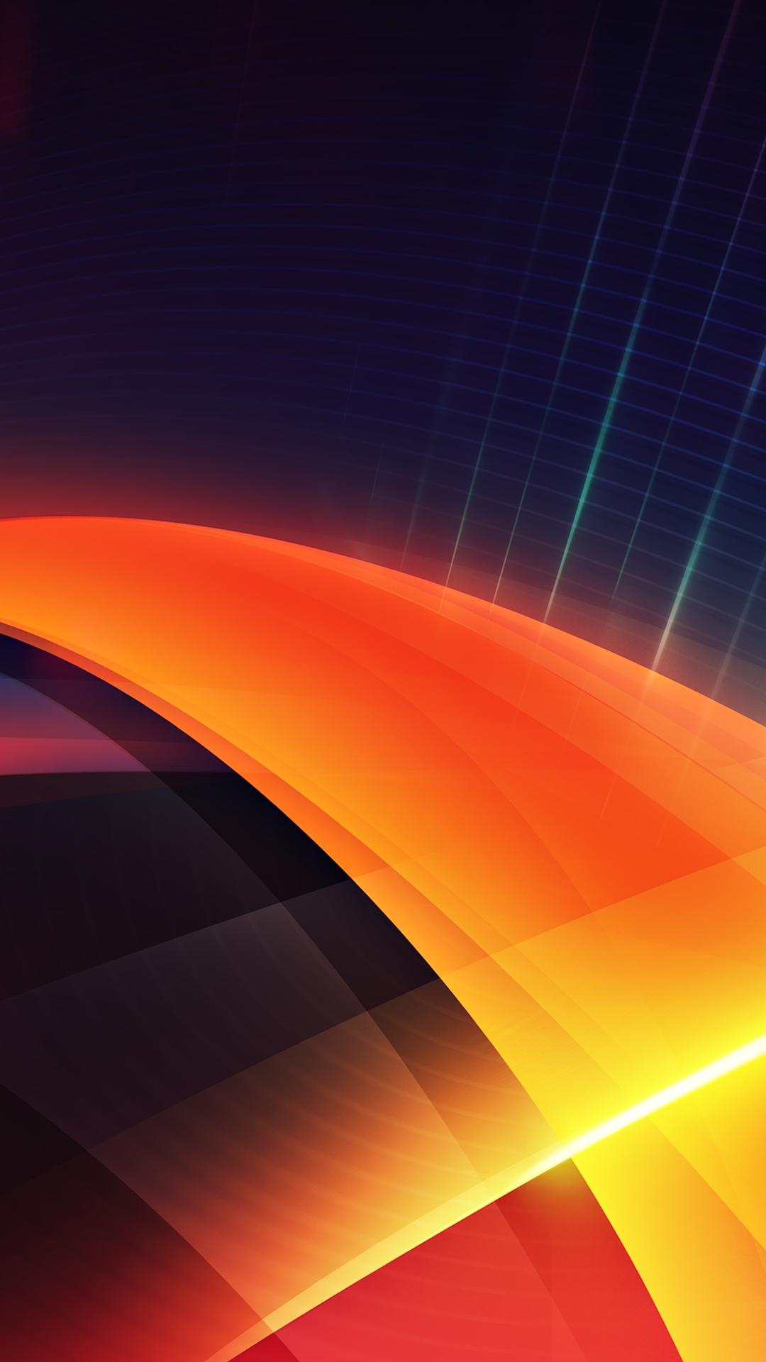 Futuristic Orange Layers Illustration iPhone 6 Plus HD Wallpaper