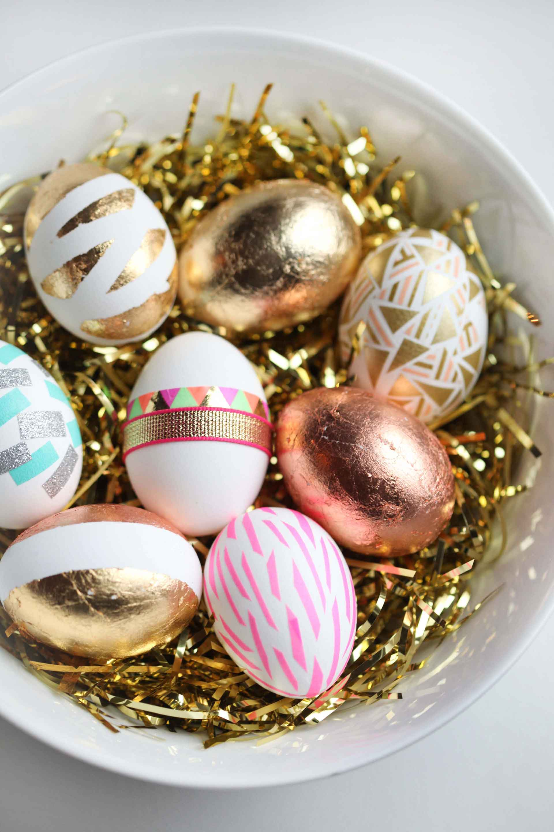 Gold And Copper Easter Decor Ideas 8
