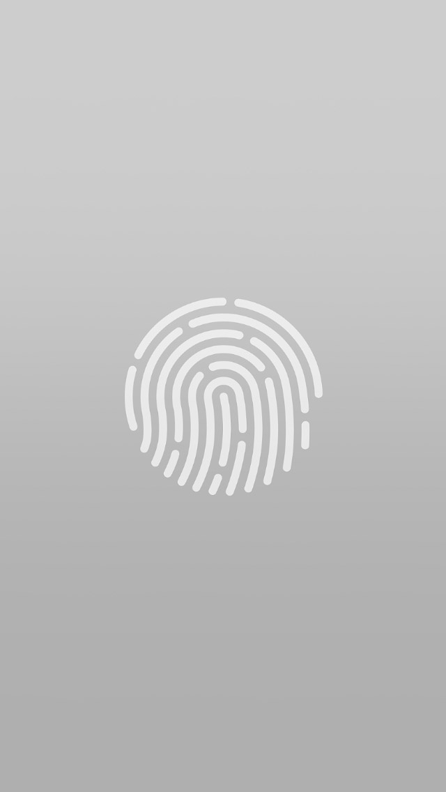 Gray Touch ID Fingerprint Sensor iPhone 5 Wallpaper