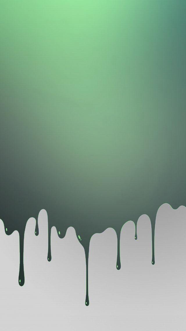 Green Paint Splat Dripping iPhone 5 Wallpaper