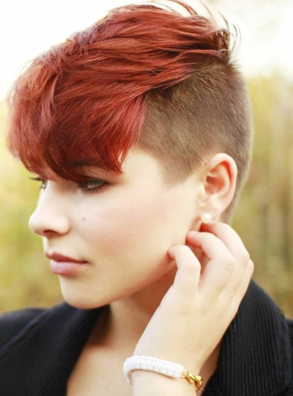 Short Layered Undercut Hairstyle