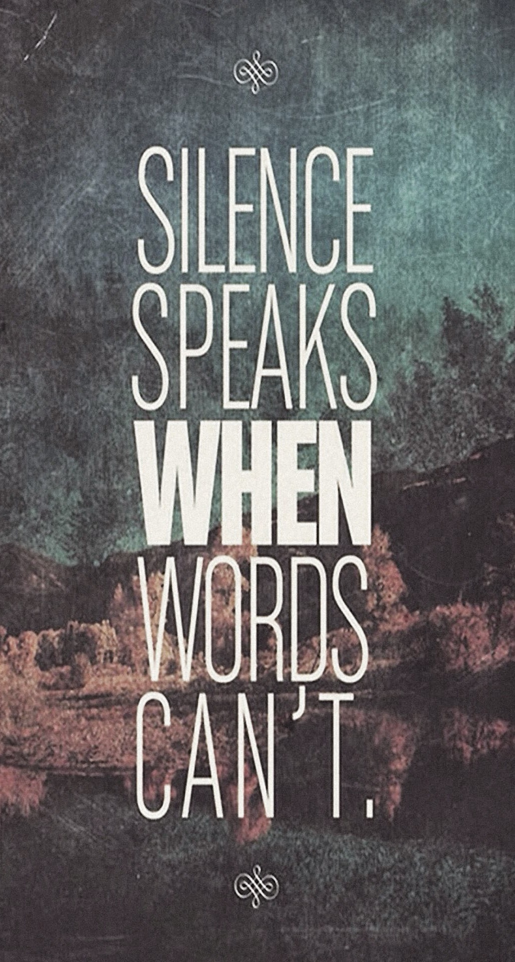 Silence Speaks When Word Cannot IPhone 6 Plus HD Wallpaper