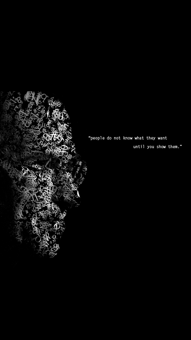 Steve Jobs Quote On People iPhone 5 Wallpaper