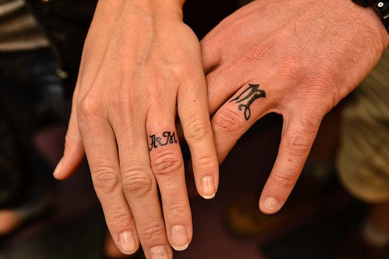 10 Touching And Sexy Wedding Ring Tattoos Available Ideas