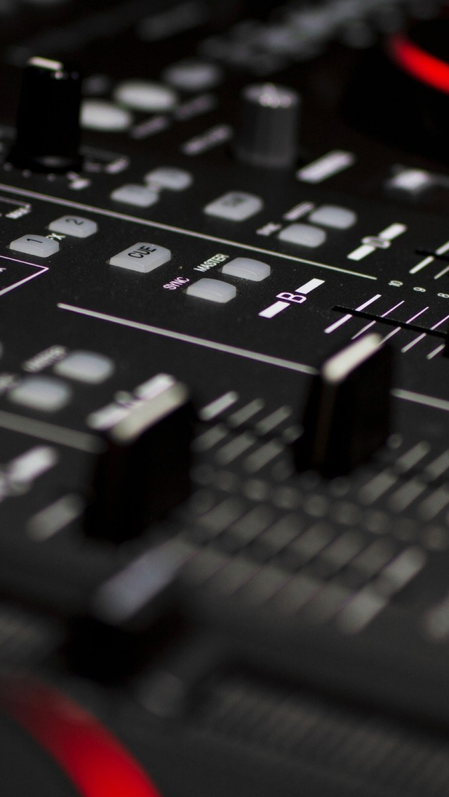DJ Mixer Closeup iPhone 5 Wallpaper