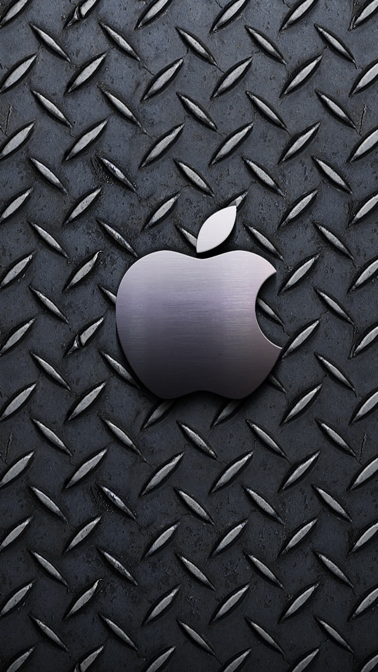 Metallic Pattern Apple Logo iPhone 6 Wallpaper