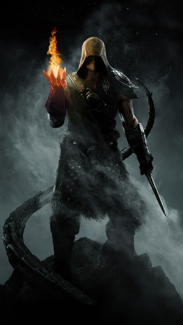 The Elder Scrolls V iPhone 5 Wallpaper